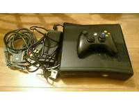 Xbox 360 with 30 games and 1 pad