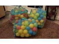 Three bags of children's play balls