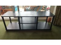 Black TV Stand - As New - Great Price