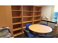 Senator beech bookcase BRAND NEW