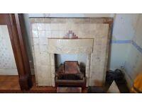 Art Deco Tile Fireplace