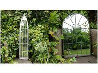 Garden Metal Vintage Style Metal Arch Mirror