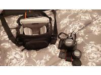 Canon EOS 600D DSLR + 2 Lenses + Charger + Case