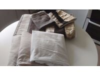 Two Single bed dovet covers @ three single, fitted sheets.