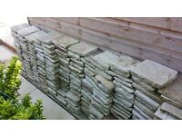 Luxurious Pavestone harvest blend rumbled sandstone paving mixed sizes covers 10 sqm (107 sqft)