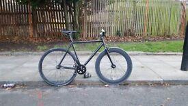 Steel fixed gear fixie bicycle bike