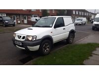 Nissan terrano 2.7 td four wheel drive low mileage ex south West water 3ton towing capacity