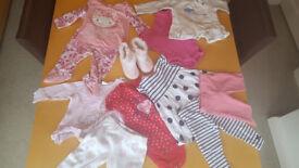 Baby Girls 14 Piece Clothing Bundle Age 3-6 Mths Next, M&S, Disney,