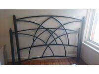 Gothic style king size metal bed frame