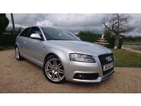 2008 AUDI A3 S LINE 20 TDI 140 3 DOOR HATCHBACK LEATHER INTERIOR 2.0 cc FSH