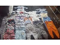 Huge bundle of New born 0-3 months baby boy clothes.