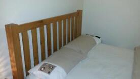 King Size Oak Bed And Mattress