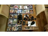 PS2 silver Console and games bundle