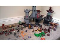 playmobil knights castle and accessories bundle