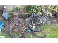 Antique butchers bike