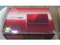 red 3ds with 2 games and sky 3ds card .