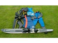 TYPHOON FULL WATERSKIING WET SUITS, MONO SKI AND HOLDALL BAG