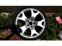 4 19 inch bmw X5 wheels. 4 good tyres 1 brand new