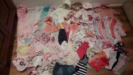 0-3months girls clothes bundle