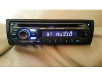 CAR HEAD UNIT SONY XPLOD CD MP3 PLAYER WITH BLUETOOTH AUX 4x 52 AMPLIFIER AMP STEREO RADIO BT