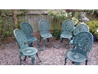 Cast Aluminium / Iron Metal Garden Patio Chairs