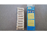 Jenga, Camper Van phone, Drinking game and Barry Trotter book