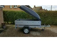 New Brenderup Car trailer 1205s XL+Abs lid.