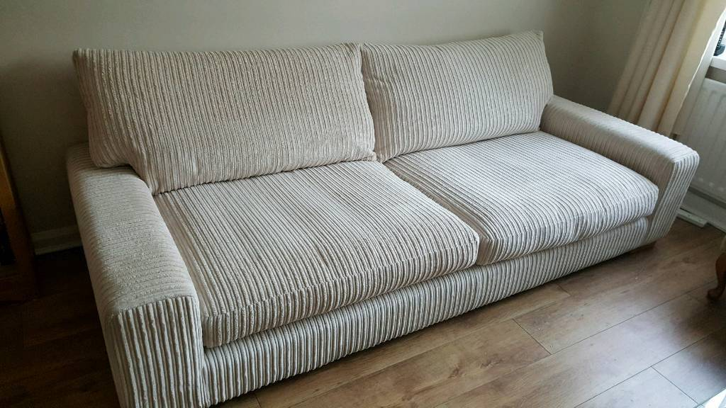 Sofology Coco 4 Seater Full Back Ivory Sofa In Crook