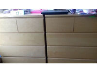 set of chest of drawers fully assembled - need gone asap