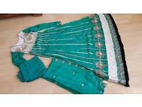 Brand new asian green dress suit