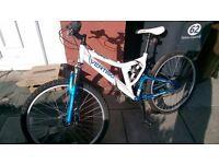 vertigo mont blanc full suspension disc brake mountain bike unisex aluminium frame as new