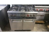 COMMERCIAL PARRY 6-RING COOKER OVEN NATURAL GAS FREE STANDING