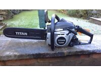 Titan petrol chainsaw in excellent condition 40 cm bar