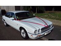 JAGUAR X300 MOT 10 MONTHS 12 SERVICE STAMPS WHITE FROM NEW START A WEDDING CAR HIRE