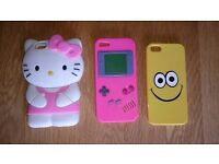 Apple I-Phone 5 Soft Cases Collection Of 3 Different Designs As New Condition