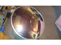 """600mm 24"""" Convex Mirror with Wall Mounting Bracket"""