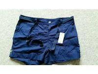 Navy blue shorts 16 BNWT