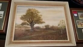 Country Scene Oil Painting - signed Leach