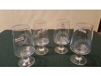 4 x SAN MIGUEL CERVEZA PILSNER LAGER HALF PINT CHALICE GLASS HOME BAR PARTY 1/2 PT