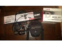 Canon EOS 20D with accessories