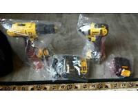 Brand new dewalt 18v xr impact and hammer drill