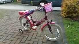Bumper Angel Girls bike 18in