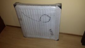 High quality Type 11 Single radiator White 600mm x 600mm with fixing brand new