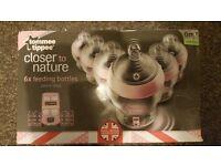 """TOMMEE TIPPEE CTN GIRLS """"BEST OF BRITAIN"""" FEEDING BOTTLES 260ML X 6 BPA FREE"""