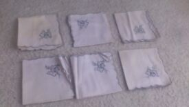 Vintage/ retro napkins x 6 (50s/60s) - could be used as part of crafts / arts project?