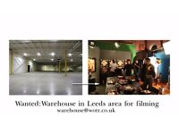 Leeds Filmmaker requires Warehouse or large empty interior office space for indie film