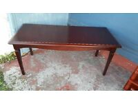 Mahogany Coffee Table In Excellent Condition