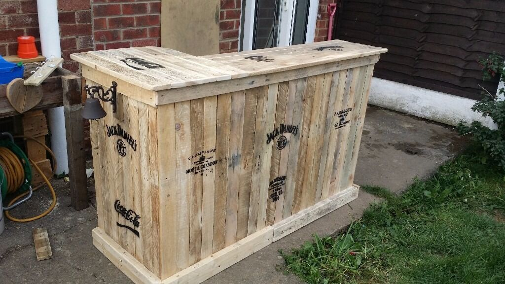 Homemade Bar Large Ideal For Garden Summer Or Man Shed