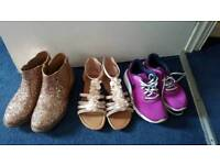 size 4 boots,trainer and sandles bundle