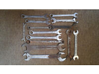 Set of 14 spanners - various sizes